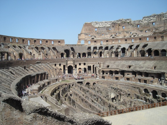 The beautiful ruins of Colosseum