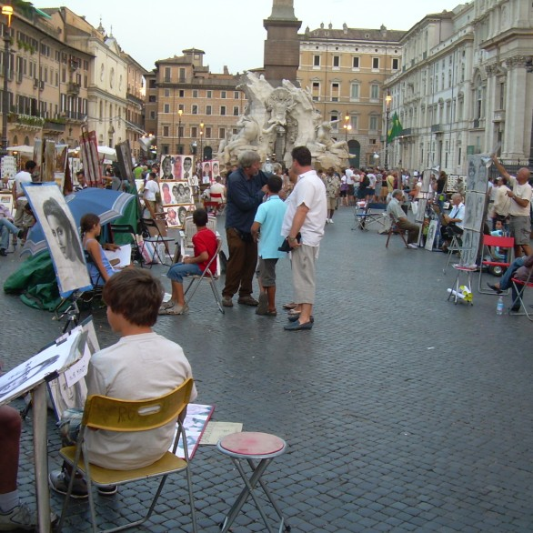 Artists on Piazza Navone