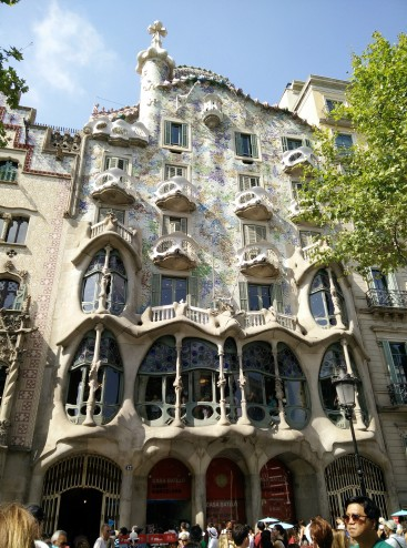 Casa Batllo designed by Gaudi
