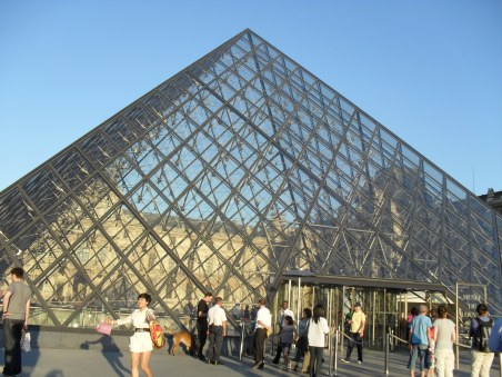 The Louvre on a sunny day